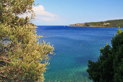 View of Village of Frikes, Ithaca,  Ionian island Stock Photo