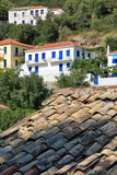 View of Village of Frikes, Ithaca,  Ionian island Stock Image