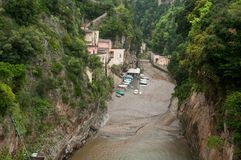 View of the village of fury Amalfi Coast Italy Royalty Free Stock Photo