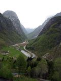View of Village in Glacial Valley in Norway Stock Images
