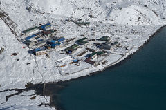 View of the village of Gokyo Royalty Free Stock Photos