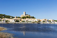View of the village Gruissan Royalty Free Stock Images