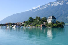 View at the village of Iseltwald on lake Brienz Royalty Free Stock Photo