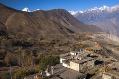 View of the village Jharkot Stock Image