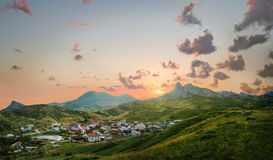 View of the village of Koktebel Stock Photos