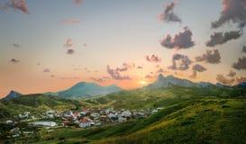 View of the village of Koktebel Stock Photos
