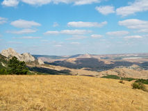 View of the village of Koktebel in Crimea Royalty Free Stock Image