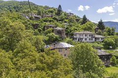 Village of Kosovo with Authentic nineteenth century houses, Plovdiv Region, Bulgaria. View of village of Kosovo with Authentic nineteenth century houses, Plovdiv stock photos