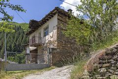 Village of Kosovo with Authentic nineteenth century houses, Plovdiv Region, Bulgaria. View of village of Kosovo with Authentic nineteenth century houses, Plovdiv royalty free stock photos
