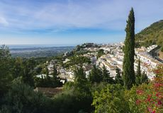 View of the village of Mijas royalty free stock image