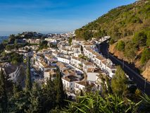 View of the village of Mijas stock image