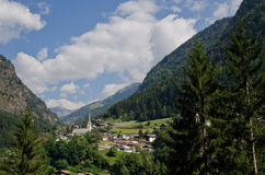 View of the village of moso, val passiria, South Tyrol Stock Photography