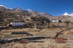 View of the village of Muktinath Stock Photos