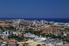 View of a village near Protaras , Cyprus Royalty Free Stock Photography
