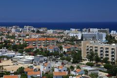 View of a village near Protaras , Cyprus Royalty Free Stock Image