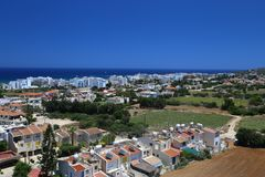 View of a village near Protaras , Cyprus Stock Photo