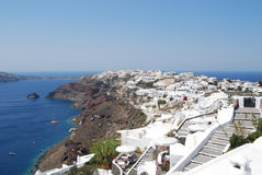 View of the village of Oia in Santorini Royalty Free Stock Photos