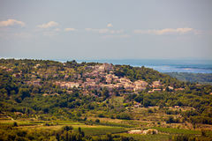 View of a village in Provence, Southern France Royalty Free Stock Photo