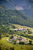 View of a village in Provence, Southern France. Mountains Landscape with a village in Provence, Southern France Royalty Free Stock Image