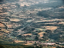 View on village and road from the high mountain Royalty Free Stock Photos
