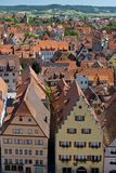 View of the village of Rothenburg ob der Tauber Stock Images