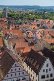 View of the village of Rothenburg ob der Tauber Royalty Free Stock Images