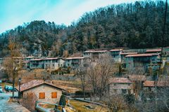 A view of the village of Rupit royalty free stock photography