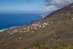 View of Village from San Antonio Volcano on Las Palmas at Canary Royalty Free Stock Image
