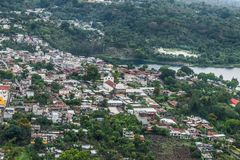 San Lucas Toliman. View of the village of San Lucas Toliman, Solola, Guatemala from the cypress Royalty Free Stock Photo