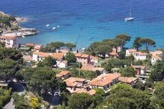 View of the village Sant'Andrea, Elba, Tuscany, Italy Stock Photos