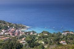 View of the village Sant'Andrea, Elba, Tuscany, Italy Stock Photo