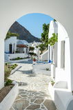 View of a village in Santorini island Royalty Free Stock Images