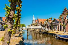 Sloten Friesland Netherlands. View on the village of Sloten, Friesland, Netherlands on spring day Stock Image