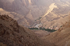 View of village in Todra Gorges Stock Photography