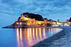 View of village of Tossa de Mar, Costa Brava, Spai. View of village of Tossa de mar (Costa Brava, Catalonia, Spain) with fortress Royalty Free Stock Image