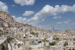 View of the village of Uchisar in Cappadocia Royalty Free Stock Images