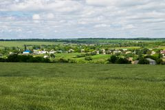 View on the village in Ukraine Royalty Free Stock Photo
