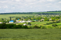 View on the village in Ukraine Royalty Free Stock Images