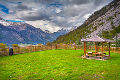 View of the village of Val-Des-Pres, spring. Royalty Free Stock Photos