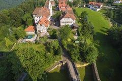 View on the village Zavelstein Stock Photo