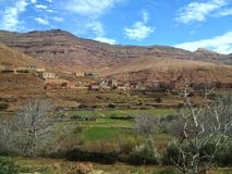 Bedouin villages in atlas mountains in morocco royalty free stock photos