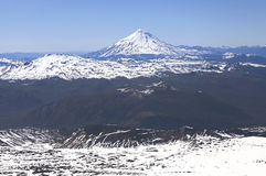 View from Villarica Volcano, Chile. Stock Images
