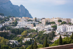 View of villas Capri Island in Italy Royalty Free Stock Photos