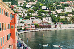 View on Villefranche sur mer boat bay. France Stock Image