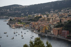 View of Villefranche sur Mer on the French Riviera Royalty Free Stock Photo