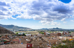 View from Villena Castle Stock Photography