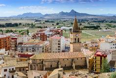 View from Villena Castle Stock Photos