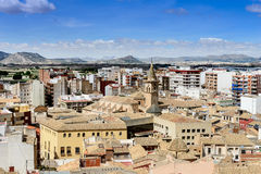 View from Villena Castle Royalty Free Stock Image