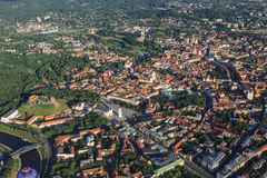 View of Vilnius from birds eye Stock Image