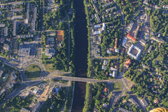 View of Vilnius from birds eye Royalty Free Stock Photos
